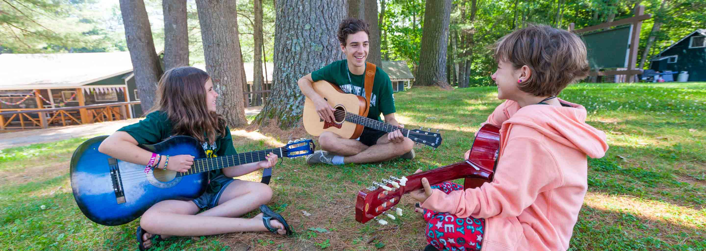 Guitar class at sleepaway camp in America