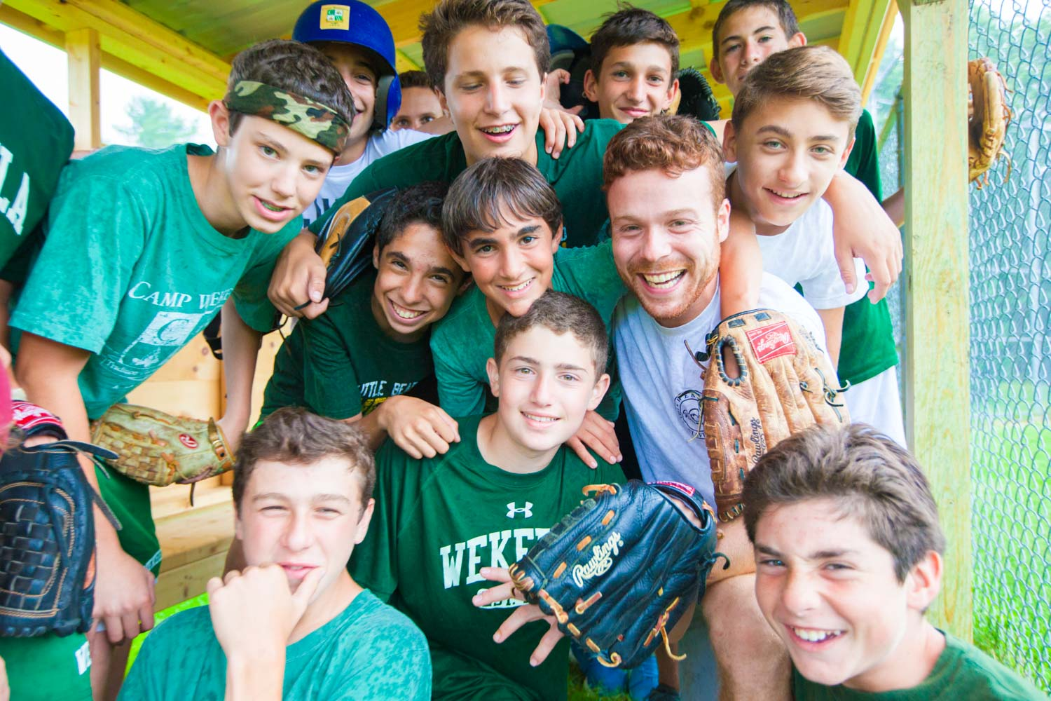 A Baseball Coach & Time Smile at Summer Camp in America