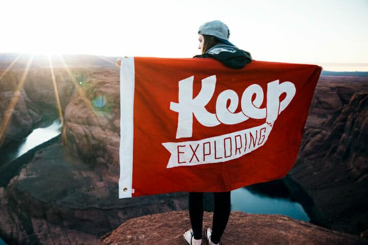 Keep exploring flag in America